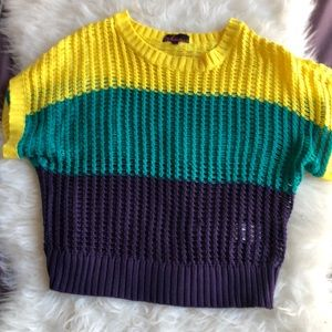 Color block knit sweater from Takeout S
